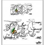Bibel-malesider - Palmpasen teken af