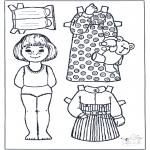 Håndarbejde - Paper doll 3