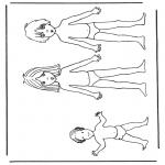 Håndarbejde - Paper doll children