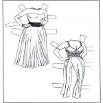 Håndarbejde - Paper doll Clothing 1
