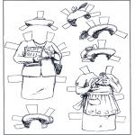 Håndarbejde - Paper doll Clothing 5