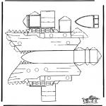 Håndarbejde - Papercraft boat