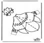 Papercraft chicken
