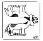 Papercraft dog