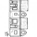 Håndarbejde - Papercraft house 1