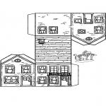 Håndarbejde - Papercraft house 3