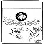 Bibel-malesider - Papercraft Jonah