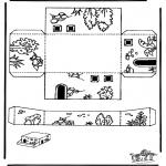 Bibel-malesider - Papercraft sheeps pen