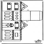 Jule-malesider - Papercraft xmashouse 1