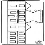 Jule-malesider - Papercraft xmashouse 2