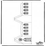 Bibel-malesider - Papercraft xmashouse 3