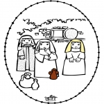 Bibel-malesider - Pasen borduurkaart
