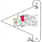 Tema-malesider - Pasen vlaggetje