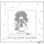 Håndarbejde - Photoframe for grandpa