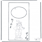 Prik-kort - Piet en Sint deurhanger
