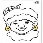 Prik-kort - Piet kleurplaat 1