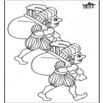 Prik-kort - Piet kleurplaat 2