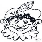 Prik-kort - Pietten masker