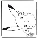 Prik-kort - Pokemon mask