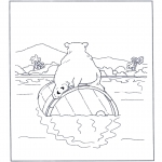 Dyre-malesider - Polar bear on a barrel