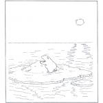 Dyre-malesider - Polar bear on ice