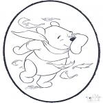 Prik-kort - Pooh prickingcard 2