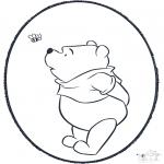 Prik-kort - Pooh prickingcard 3