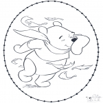 Sy-kort - Pooh stitchingcard 1