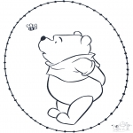 Sy-kort - Pooh stitchingcard 2
