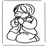 Bibel-malesider - Praying boy