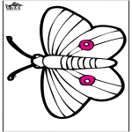 Dyre-malesider - Pricking card butterfly
