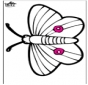 Pricking card butterfly