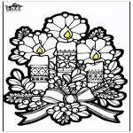 Jule-malesider - Pricking card candles