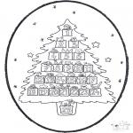 Prik-kort - Pricking card - Christmas calendar