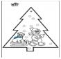 Pricking card snowman 3