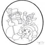 Prik-kort - Pricking card - winter