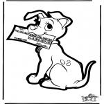 Prik-kort - Prickingcard 101 dogs 4