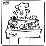 Prik-kort - Prickingcard baker