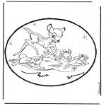 Prik-kort - Prickingcard bambi 1