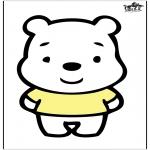 Prik-kort - Prickingcard bear