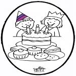 Prik-kort - Prickingcard birthday