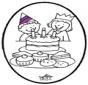 Prickingcard birthday