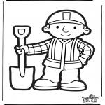 Prik-kort - Prickingcard Bob the Builder 2