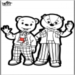 Prik-kort - Prickingcard - Brownie bear