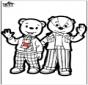 Prickingcard - Brownie bear