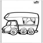 Prik-kort - Prickingcard camper