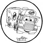 Prik-kort - Prickingcard - Cars