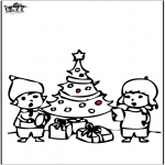 Jule-malesider - Prickingcard Christmas tree 4