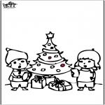 Jule-malesider - Prickingcard Christmas tree 4