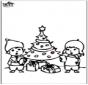 Prickingcard Christmas tree 4